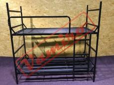 Patrová kovová postel - palanda - Prodej kovové palandy - černá barva