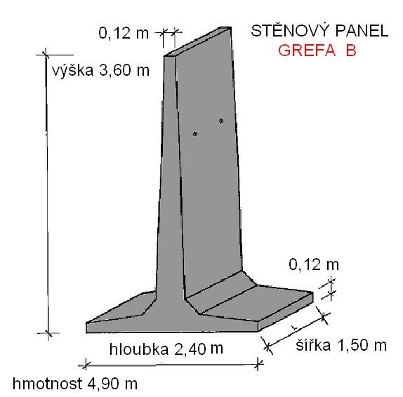 T panel stěnový 3,6 m
